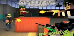 Cops N Robbers (FPS) - Minecraft Style Pixel Shooter and Multiplayer