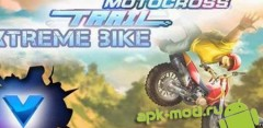 Motocross trial xtreme bike