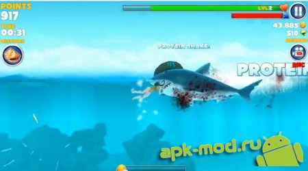 Hungry Shark Evolution 2.2.6 Mod (много денег)